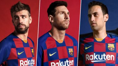 Barcelona Unveils New 'Checkerboard' Kit for 2019–20 Football Season, Leaves Fans Extremely Disappointed! Read Angry Tweets