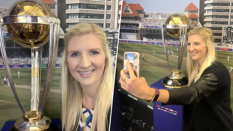 Olympic Gold Medalist Rebecca Adlington Attends PAK vs ENG World Cup 2019 Match at Trent Bridge, Shares Pics From the Stadium