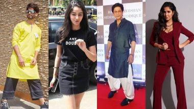 Best And Worst Dressed Over The Weekend: Check Out If Katrina Kaif, Shahid Kapoor, Ananya Pandey Did Well Or Horribly On Our Style Meter!
