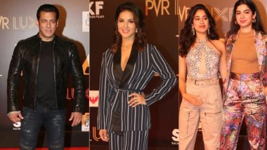 Bharat Screening: Salman Khan Gets A Roaring Welcome, Janhvi Kapoor, Ananya Panday, Sunny Leone Attend The Grand Event - View Pics