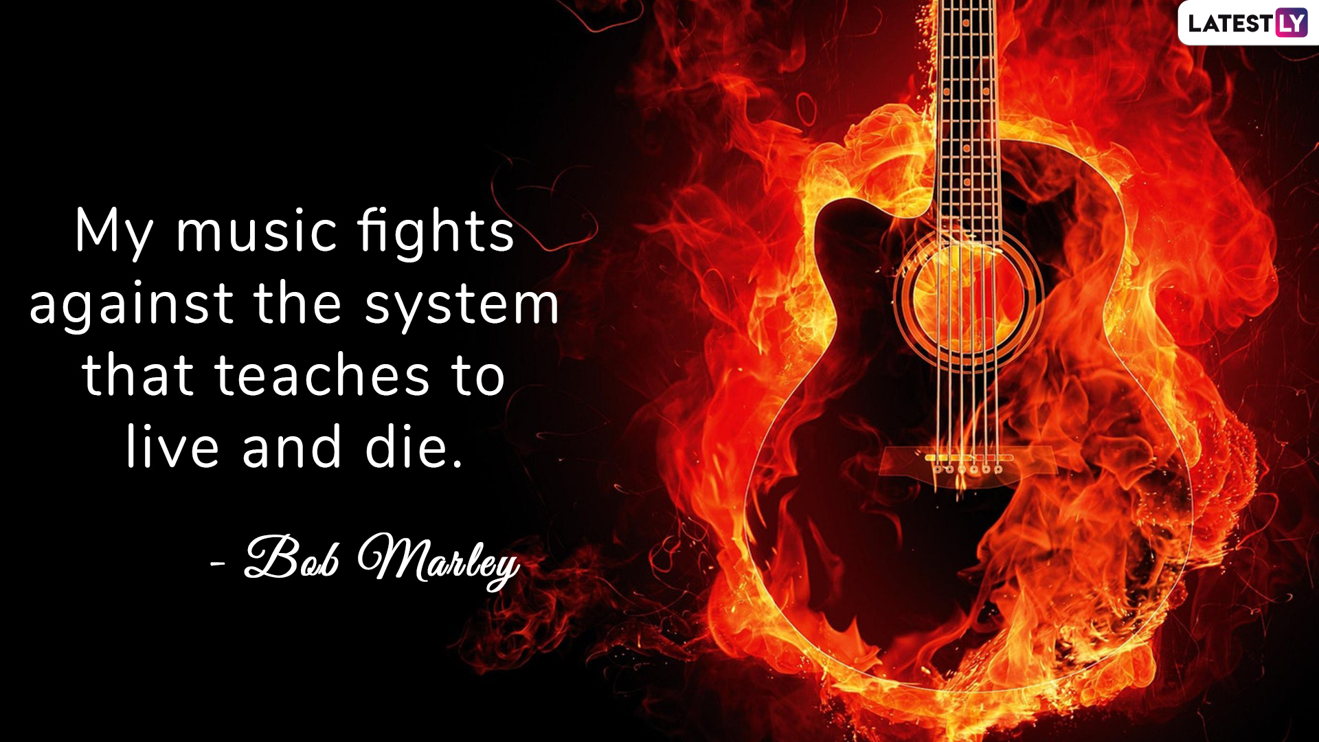 Bob Marley's quote on music to celebrate World Music Day 2019 (Photo Credits: File Image)