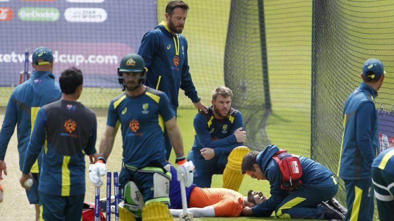 David Warner Shot Hits Indian Origin Net Bowler on the Head, Training Called Off Ahead of India vs Australia ICC CWC 2019 Clash