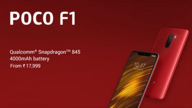 Xiaomi Poco F1 64GB Variant Price in India Now Starts At Rs 17,999; Features & Specifications