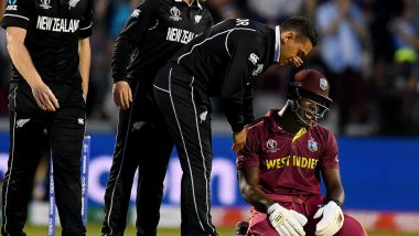 New Zealand Beats West Indies by 5 Runs to Go Atop ICC CWC 2019 Points Table, Twitter Hails Black Caps and Carlos Brathwaite's Heroic Hundred