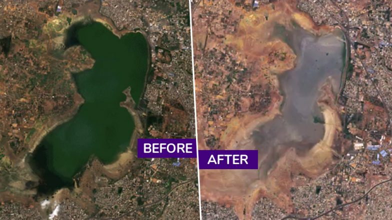 Chennai Water Crisis: Before and After Images Show Drying of City's Lakes, Reaching Day Zero; Names of Cities Next in List