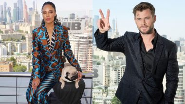Chris Hemsworth And Tessa Thompson Tour To Russia For Men In Black: International Promotion With Frank The Pug (And He Is Super Cute)!