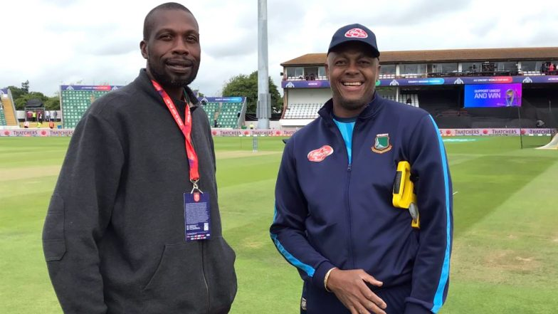 WI vs BAN, ICC CWC 2019: Legendary West Indies Fast Bowling Pair of Courtney Walsh and Curtly Ambrose Seen Together in Taunton, Know Their Records
