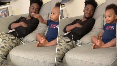 Father And Toddler's Gibberish Conversation Goes Viral; Social Media is Watching the 'Funny' Video on Loop