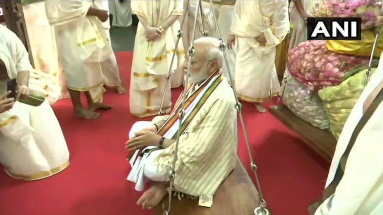 PM Narendra Modi Performs Puja at Sri Krishna Temple in Kerala's Guruvayur