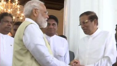 PM Narendra Modi Meets Top Sri Lankan Leadership; Describes Terrorism as a 'Joint Threat'