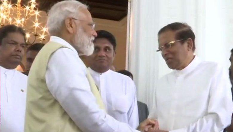 PM Narendra Modi Meets Top Sri Lankan Leadership; Describes Terrorism as a 'Joint Threat'