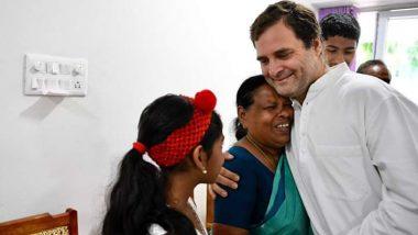 Rahul Gandhi Meets Rajamma Vavathil in Wayanad, His Delivery Nurse After 49 Years