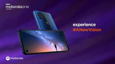 Motorola One Vision Smartphone With 48MP Camera Launched in India At Rs 19,999
