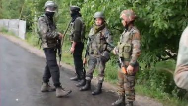 Jammu And Kashmir: One Terrorist Neutralised by Security Forces in Bandipora Encounter