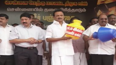 Chennai Water Crisis: DMK Holds Protest Against Tamil Nadu Government; Stalin, Dayanidhi Maran Join Protesters