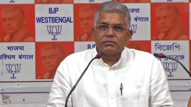 TMC Files Two FIRs Against BJP West Bengal Chief Dilip Ghosh Over 'Our Govt Shot Vandals Like Dogs' Remark