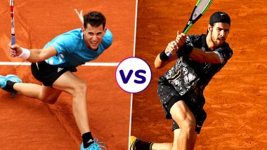 Dominic Thiem vs Karen Khachanov, French Open 2019 Quarter-Final Live Streaming: Get Free Live Telecast Online, Match Time in IST and Channel Details in India