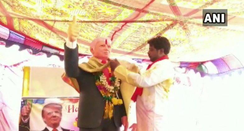 Donald Trump's 73rd Birthday Celebrated in Telangana, Jangaon Farmer Worships 6-Foot Statue Of POTUS