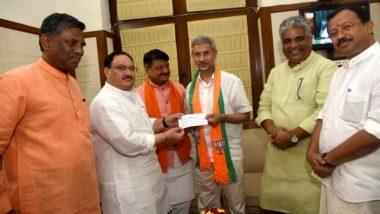 S Jaishankar, External Affairs Minister, Formally Joins BJP in Presence of Working President JP Nadda