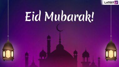 Eid Mubarak Shayari 2019 in Urdu: WhatsApp Stickers, Chand Mubarak Images, SMS, GIF Greetings, Status, Facebook Messages to Wish Eid al-Fitr