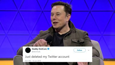 Elon Musk Twitter Account Deleted? SpaceX Founder Changes His Name to DaddyDotCom and Makes a Cryptic Post, Gets Trolled Once Again (Check Tweets)