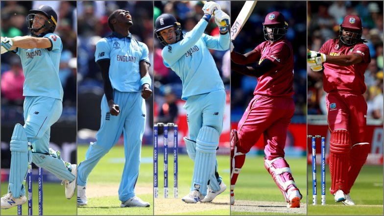 ENG vs WI, ICC Cricket World Cup 2019 Match 19, Key Players: Jason Roy, Chris Gayle, Jofra Archer and Other Cricketers to Watch Out for at Rose Bowl in Southampton