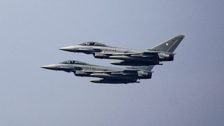 Germany: Two Eurofighter Jets Collide Mid-Air; 1 Pilot Ejects Safely After Crash