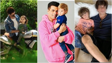 Father's Day 2019: From Shah Rukh Khan to Shahid Kapoor, Bollywood's Dads and Their Cutest Pictures With Their Kids