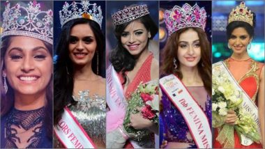 Ahead of Femina Miss India 2019 Winner Name Announcement, Here're Winners From Last Five Years Who Went On to Represent Country at Miss World Stage!