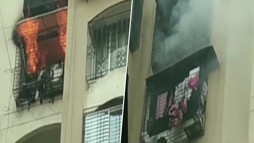 Mumbai: Fire Breaks Out at Jogeshwari's Minar Tower,  Fire Tenders Present