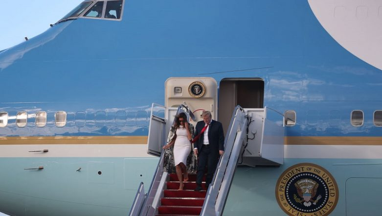 Donald Trump Unveils Colour Scheme for New Air Force One Jets, Wants to Add Red to Its Traditional Blue and White Colour