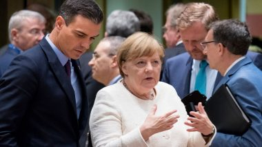 Angela Merkel Spotted Trembling for The Second Time in 10 Days; Video of German Chancellor Unsteady Alongside President Frank-Walter Steinmeier Goes Viral