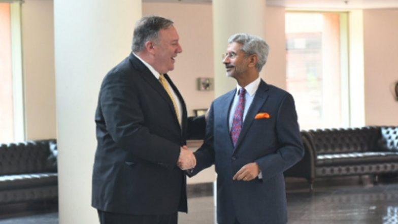 Mike Pompeo, EAM S Jaishankar Hold Talks to Strengthen India-US Strategic Partnership