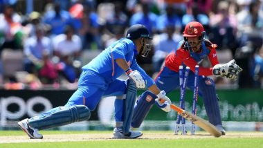 MS Dhoni Again Draws Flak on Twitter for His Slow Batting Against Afghanistan in ICC Cricket World Cup 2019