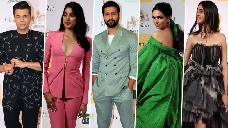 Grazia Millennial Awards 2019 Red Carpet Pics: Deepika Padukone, Vicky Kaushal, Ananya Panday and Other Bollywood Celebs Make Entrancing Appearances