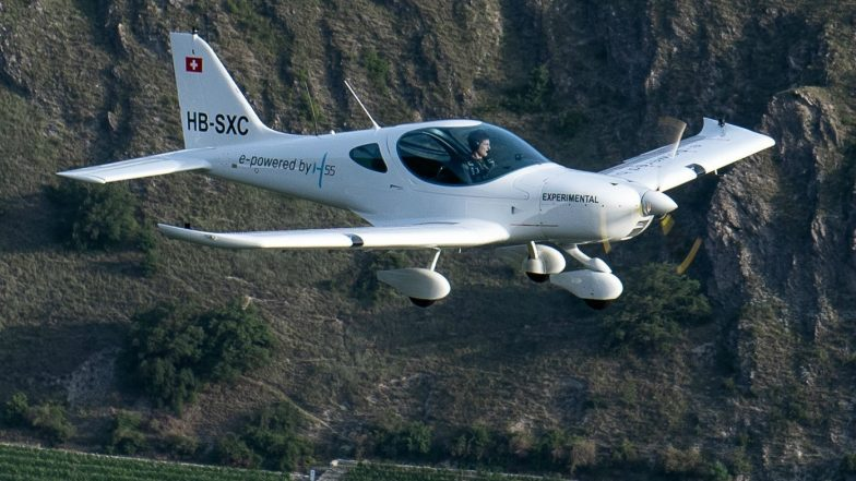 Electric Airplane 'H55' Takes Off in Switzerland