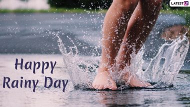 Happy Rainy Day 2019 Images, Wishes and Status: Monsoon WhatsApp Stickers, GIFs, Rain Pics and Wallpapers to Share and Send Lovely Greetings of the Season