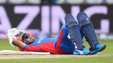 Hashmatullah Shahidi Hit on Head by Mark Wood's Bouncer, Batsman Goes on to Post Fifty During ENG vs AFG Match CWC 2019