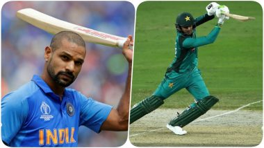 Shikhar Dhawan and Shoaib Malik Pose For Pic as India-Pakistan Lock Horns in Manchester, Fans Come Up With Hilarious Captions