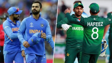 India vs Pakistan Head-to-Head Record: Ahead of ICC Cricket World Cup 2019 Clash, Here Are Match Results of Last 5 IND vs PAK Encounters!