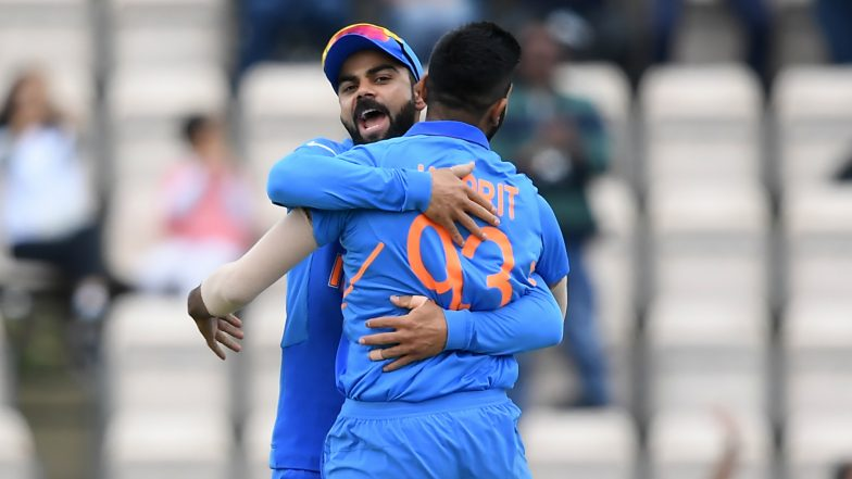 India vs South Africa Mid-Innings Report: Yuzvendra Chahal, Jasprit Bumrah Lead CWC19 ODI Match Show as IND Restrict SA to 227/9