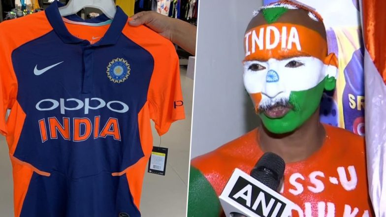 orange team india away jersey for icc cricket world cup 2019 shared by indian superfan sudhir