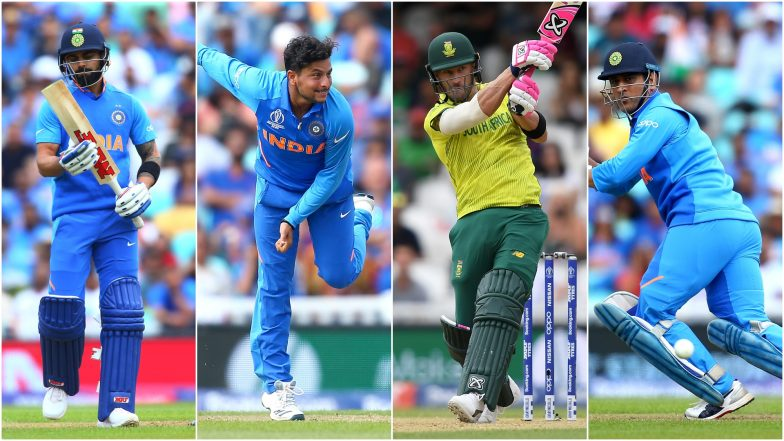 IND vs SA, ICC Cricket World Cup 2019 Match 8, Key Players: Virat Kohli, Faf du Plessis and Other Cricketers to Watch Out for in Southampton
