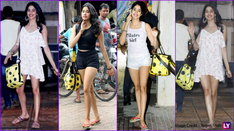 From Gym to Shopping Trips, This SpongeBob Drawstring Bag Is Janhvi Kapoor's Constant Companion (View Pics)