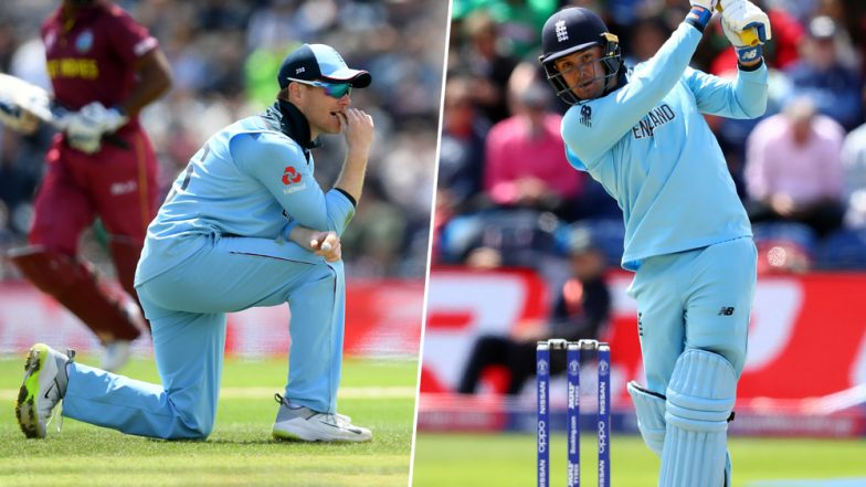 ENG vs WI, ICC CWC 2019: Injury Concerns For England as Jason Roy and Skipper Eoin Morgan Leave Field During Match Against West Indies