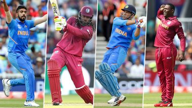 IND vs WI, ICC Cricket World Cup 2019, Key Players: Jasprit Bumrah, Chris Gayle and Other Cricketers to Watch Out for in Manchester