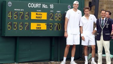Ahead of Wimbledon 2019, Here's a Throwback to John Isner vs Nicolas Mahut Classic From Wimbledon 2010 and the Longest Match Ever Played (Watch Video)