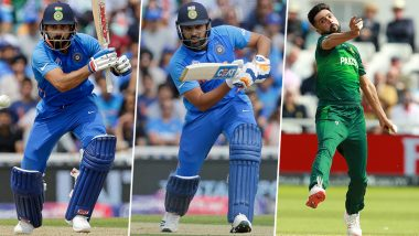 IND vs PAK, ICC Cricket World Cup 2019 Match 12, Key Players: Virat Kohli, Rohit Sharma, Mohammad Amir and Other Cricketers to Watch Out for in Manchester