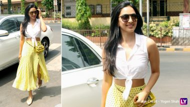 Bright and Beautiful! Kabir Singh Actress Kiara Advani Goes on a Lunch Date in a Tie-Front Crop Top and High Waist Polka Dot Skirt – View Pics