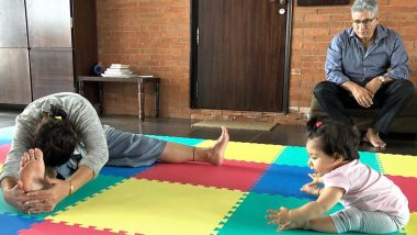 International Yoga Day 2019: Inaaya Naumi Kemmu Imitating Her Grandmother Is The Cutest Pic on the Internet Today!